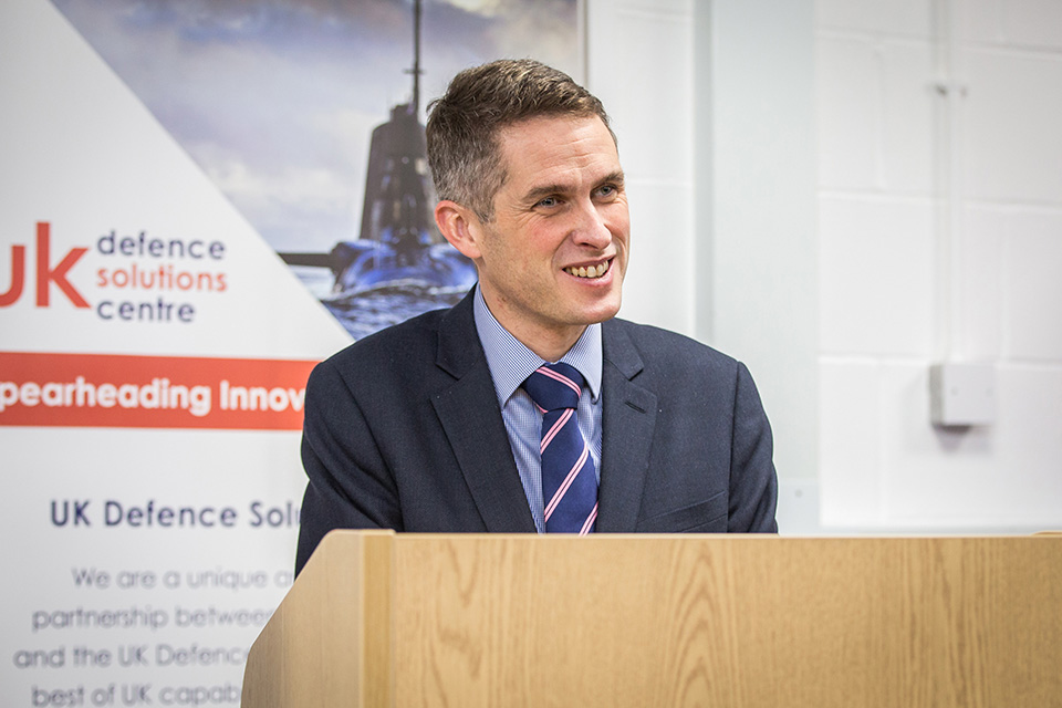 international defence contracts speech by Gavin Williamson